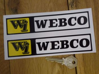 "Webco Wi Oblong Stickers. 6.5"" Pair."
