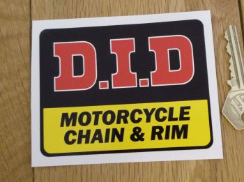 "D.I.D Motorcycle Chain & Rim Sticker. 4""."