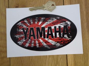 "Yamaha Fade To Black Hinomaru Style Sticker. 6""."