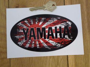 "Yamaha Fade To Black Hinomaru Style Sticker. 6""."