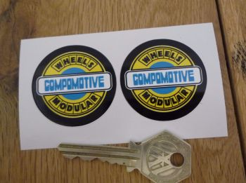 "Compomotive Modular Wheels Coloured Circular Stickers. 1.5"" Pair."