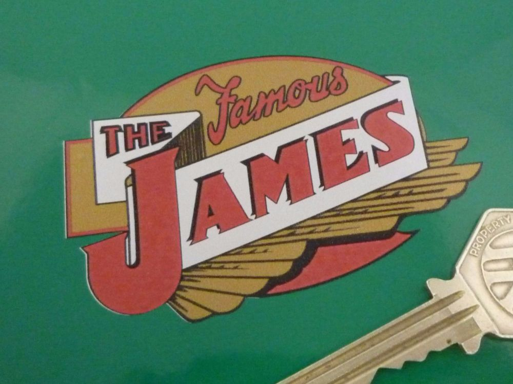 """The Famous James Shaped Sticker. 3""""."""