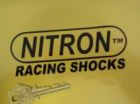 Nitron Racing Shocks Cut Vinyl Stickers. 4.75