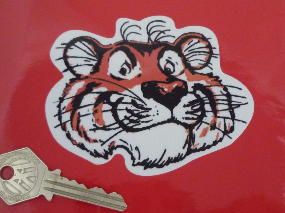 "Esso Tiger Head Reflective Stickers. 4"" Pair."