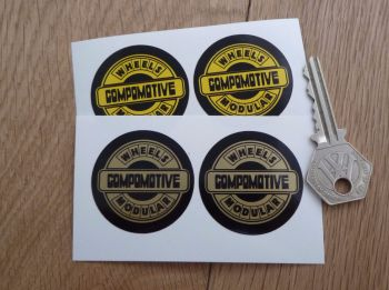 "Compomotive Modular Wheels Circular Stickers. 1.5"" Pair."