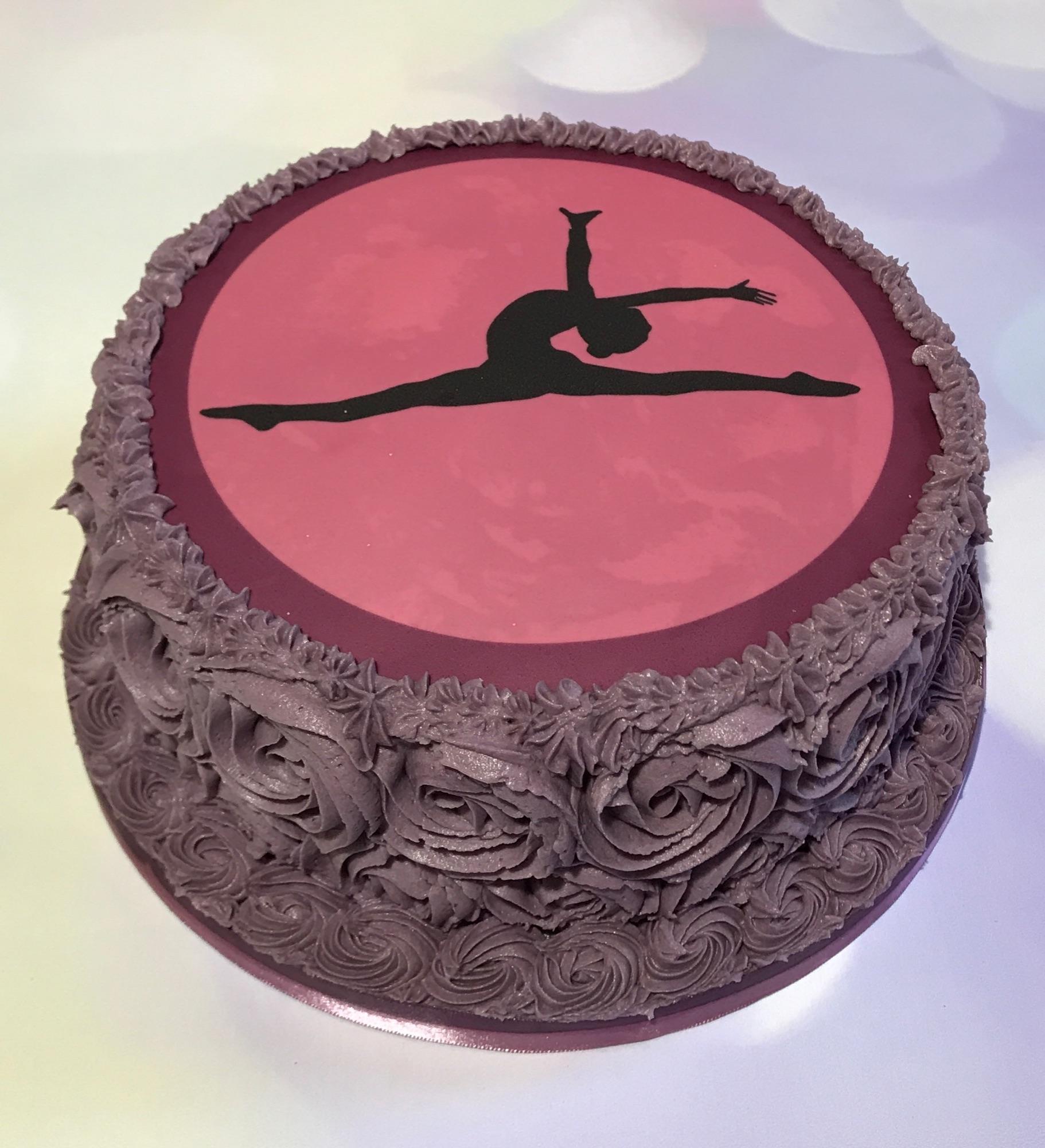 Buttercream Freefrom Gymnast Ballerina Cake