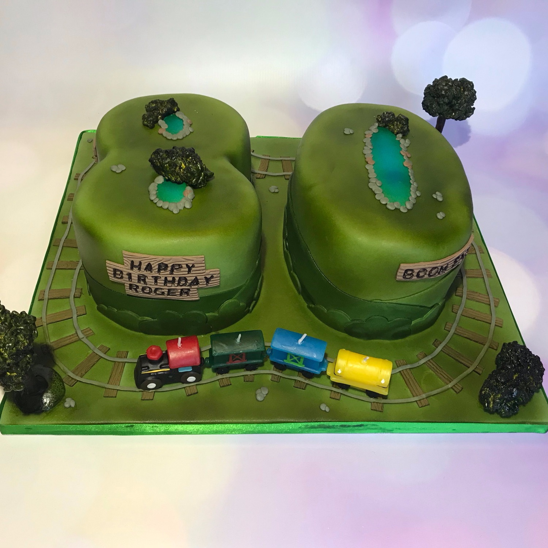 80 Train Cake