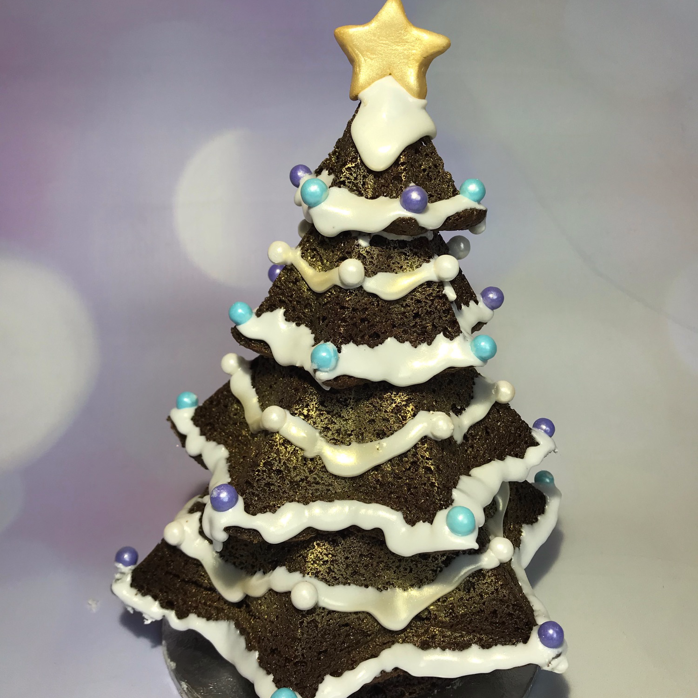 Snowy Brownie Christmas Tree