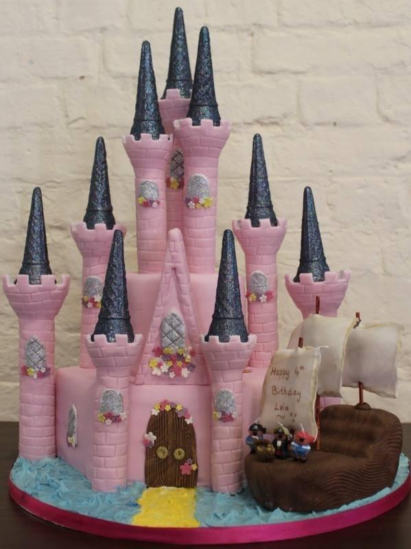 Princess Castle & Pirate Ship Cake