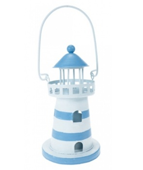 Lighthouse Tea Light Lamp Lantern / Beach Seaside Nautical Decor - Outdoor Dining