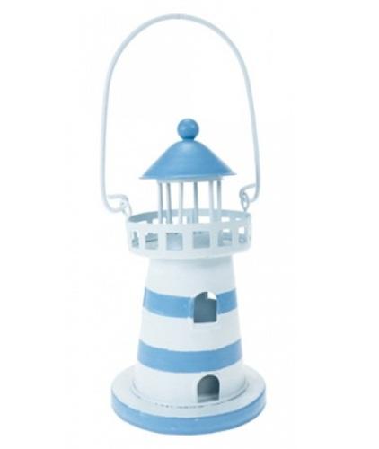 Lighthouse Tea Light Lamp Lantern / Beach Seaside Nautical Decor - Outdoor