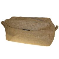 Jute Cosmetic Make Up Bag - Plain with pocket - Great for Painting