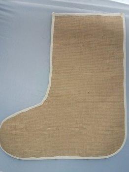 5 x Large Plain Jute Christmas Stockings - Laminated Inside