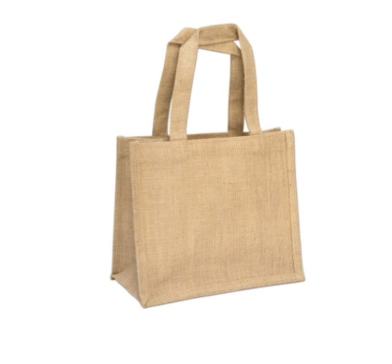 Large Mini Jute Bag Natural