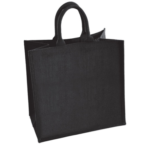 Large Black Jute Shopping Bags - Seconds - Flawed - only £1.30 each