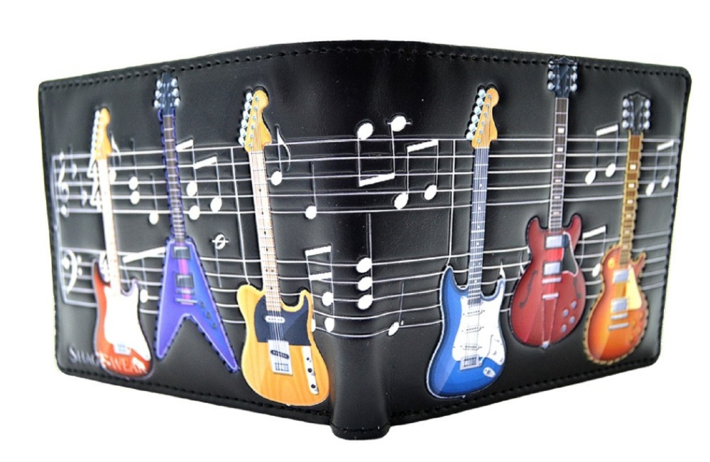 Mens Wallet with Guitar Design - Fun Practical and Quality Gift