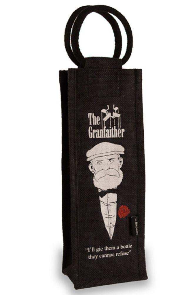 Grandfaither Bottle Gift Bag - Broons Design Scottish Whisky Bag
