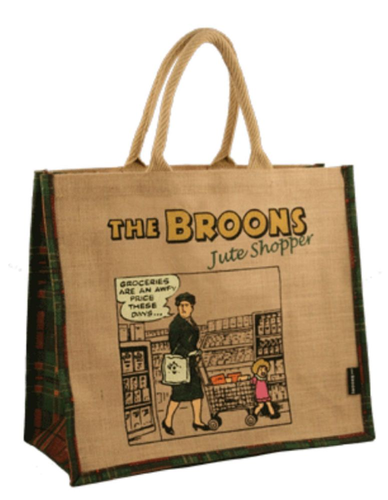 The Broons Large Shopping Bag - Ma Broon - Trolley Groceries - Scottish Bro