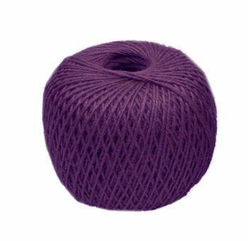 Jute 3 ply Twine - Crafts - Gardening - Purple