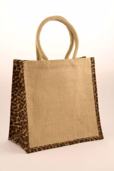 Animal Print Medium Jute Shopping Bags - Seconds - Flawed - only 90p each