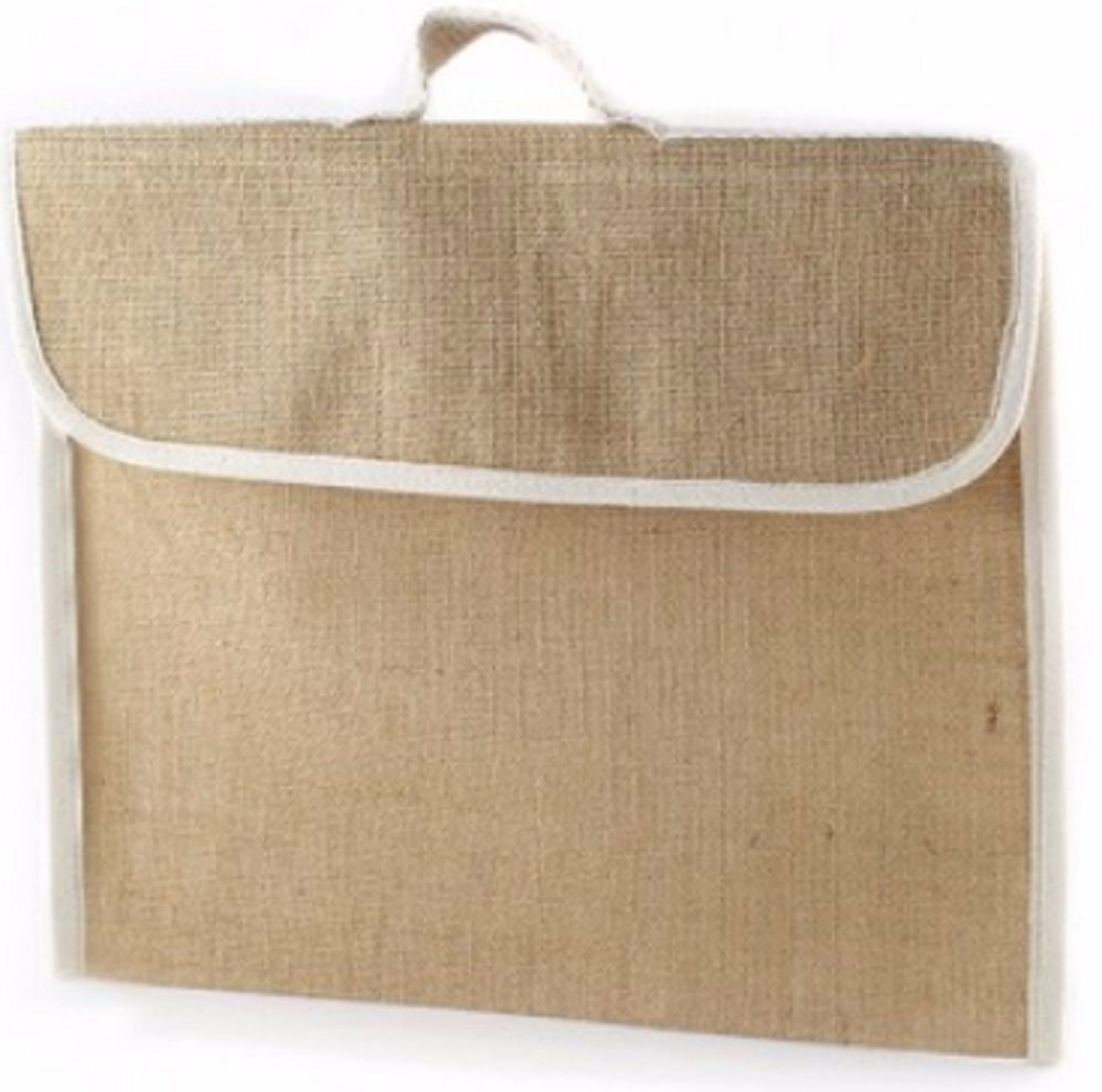 1 x Jute Hessian School Book Bag - Conference - Delegate Bags - SECONDS
