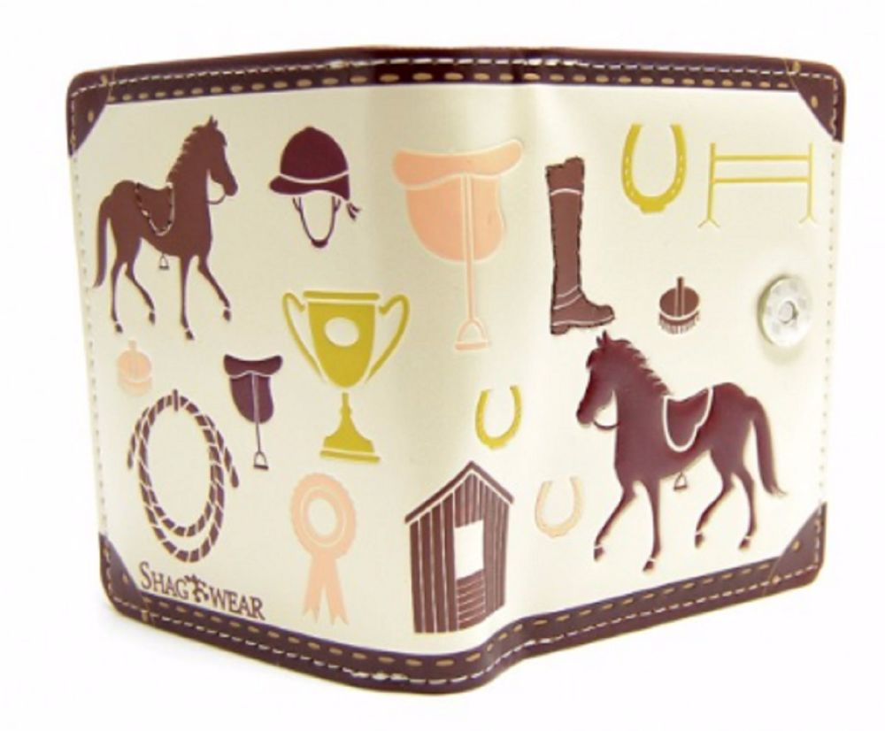 Horse Show Jumping Pony Club Purse Quality Gift Cream
