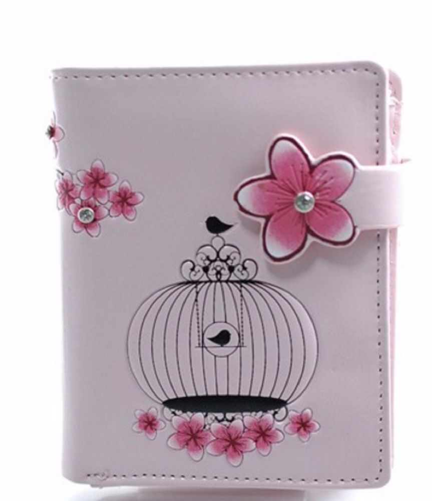 Japanese lanterns small purse with pink background