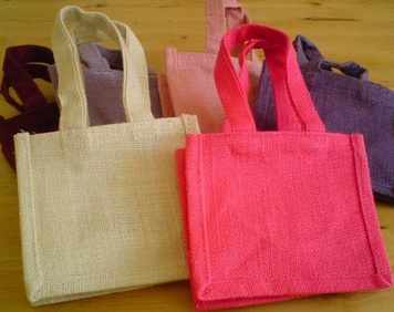 Jute Party/Gift/Wedding Favour Bags x 5 pack