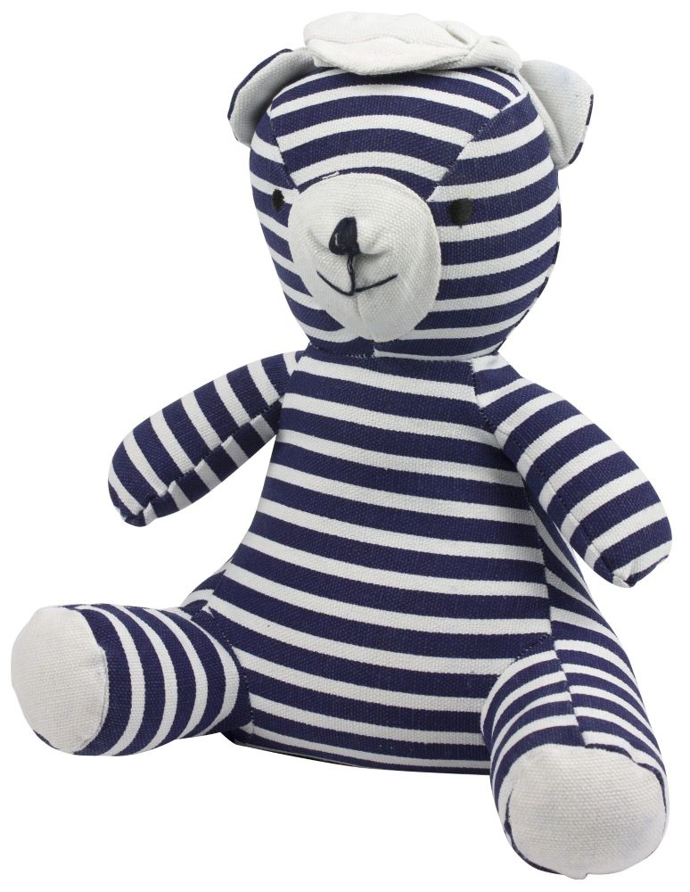 Jack the Sailor Navy Blue and White Striped Door Stop Character 1.5 kg heav