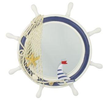 55603 Ships Wheel Mirror Nauticalia