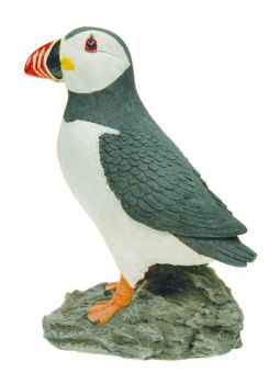Puffin on a Rock Seabird Ornament Seaside Beach Decor Figurine