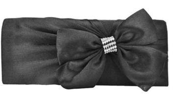 Black Satin Evening Bag - Clutch Bag