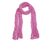 Pink Lightweight Ladies Scarf with circles