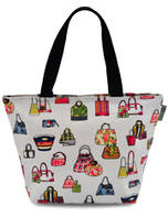 Handbag Design - White Oilcloth Tote Bag