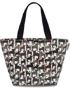 Cats Design - Medium Oilcloth Handbag - Fully Lined - Zipped Top