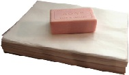 100 x Waxed Soap Wrap Sheets - ideal for 100 g bars - pre cut