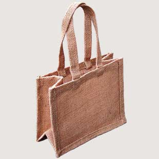 10 x Medium Mini Jute Gift Bags  - Natural
