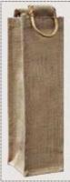 1 x Jute Hessian Bottle Gift Bag - Plain