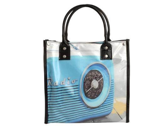 Retro Radio - Insulated Lunch Tote Bag/Handbag