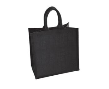 Medium Black Jute Shopping Bag 30 x 30 cm