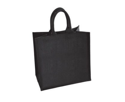 Medium Black Jute Shopping Bag 30 x 30 cm