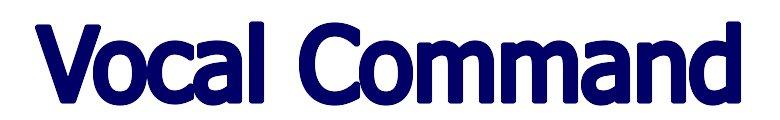 Vocal Command, site logo.