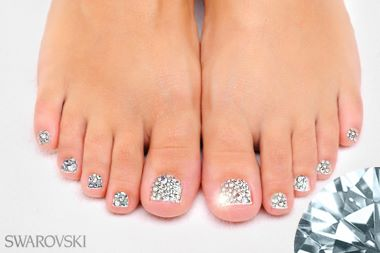 Full Swarovski pedicure