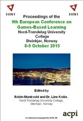 <!--231--> ECGBL 2015 9th European Conference on Games Based Learning Steinkjer Norway ISBN: 978‐1‐910810‐58‐3 ISSN: 2049-0992