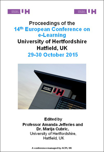<!--131--> ECEL 2015 14th European Conference on e-Learning Hatfield UK ISBN: 978-1-910810-70-5 ISSN: 2048-8637
