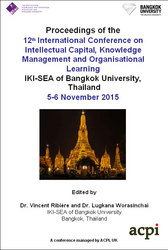 <!--101--> ICICKM 2015 12th International Conference on Intellectual Capital Knowledge Management and Organisational Learning Bangkok Thailand