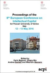 ECIC 2016 8th European Conference on Intellectual Capital Venice Italy ISBN: 978-1-910810-89-7-3 ISSN: 2049-0933