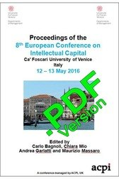 ECIC 2016 8th European Conference on Intellectual Capital Venice Italy ISBN: 978-1-910810-90-3 ISSN: 2049-0941