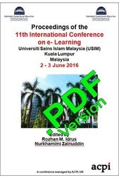 ICEL 2016 11th International Conference on e-Learning Kuala Lumpur Malaysia PDF version ISSN: 2048-8890 PDF version 978-1-910810-92-7