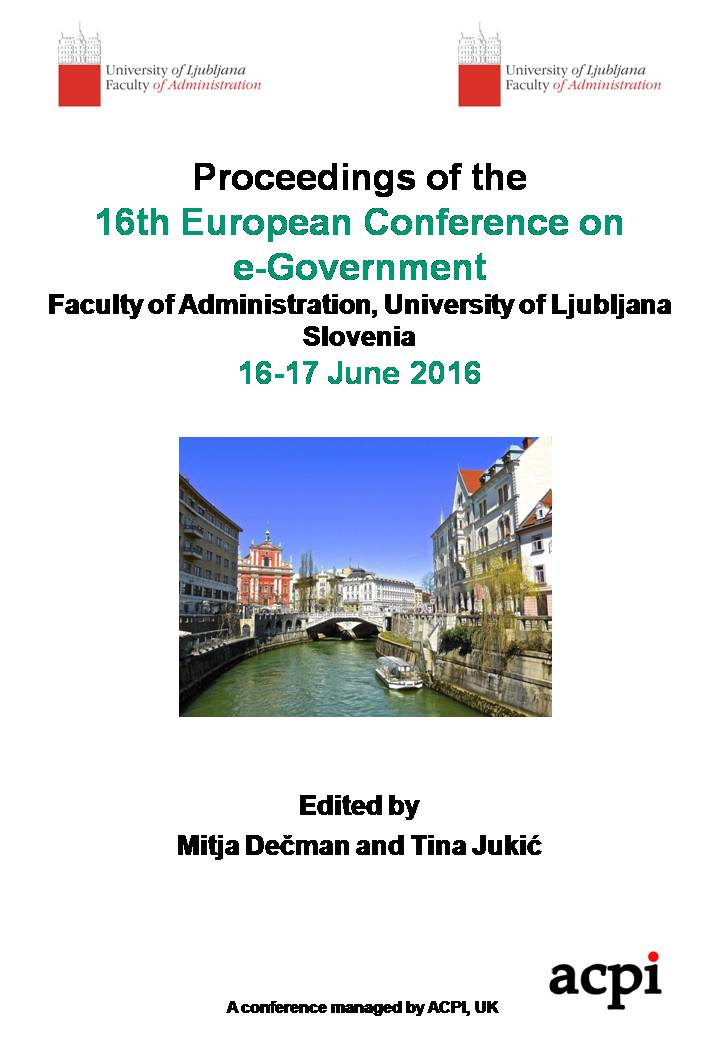 ECEG 2016 - Proceedings of the 16th European Conference on e-Government